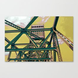 Main street bridge art print - Jacksonville, Florida - industrial steel beauty Canvas Print