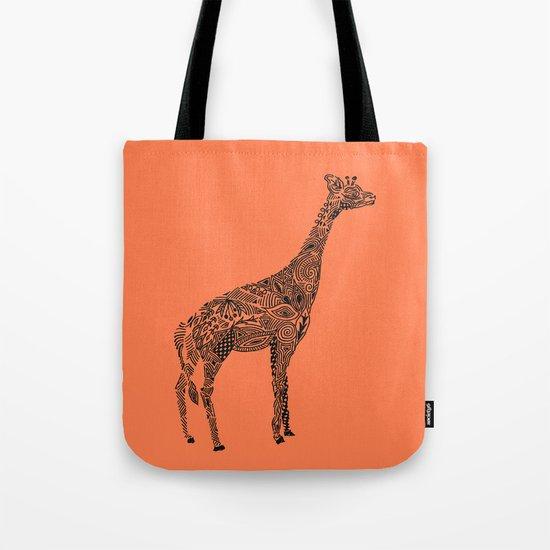 Designer Giraffe Coral Tote Bag
