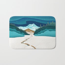 Mt. Hood from the base of Heather Canyon Bath Mat