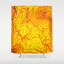 Lava is Lit Shower Curtain