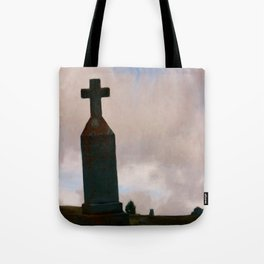 Cross on the Hill Tote Bag