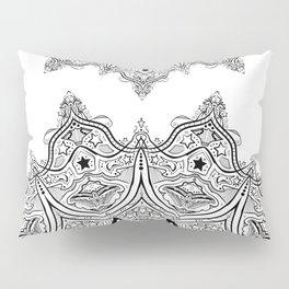 Stars and Stripes - Patriotic Mandala - Black and White - 'Merica! Pillow Sham
