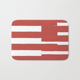 Big Stripes In Red Bath Mat