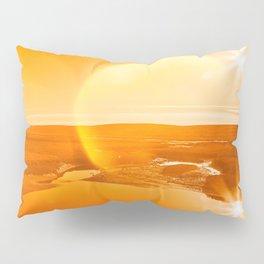 Twin Suns of Point Reyes - Gold Bokeh Bliss Pillow Sham