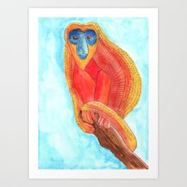 Just Monkeying Around Art Print