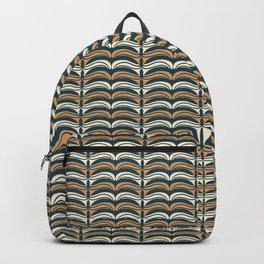 Hand drawn folk art Christmas stripes  pattern Backpack