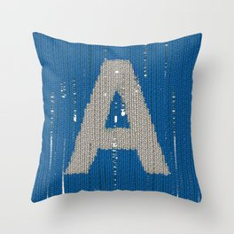Winter clothes. Letter A. Throw Pillow
