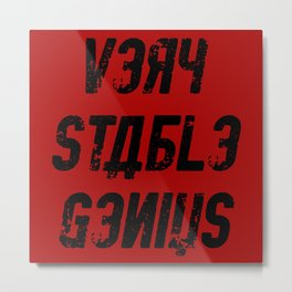 Very Stable Genius Red Metal Print