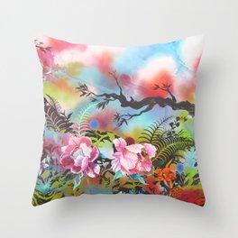 Pink Peonies Street Style Throw Pillow