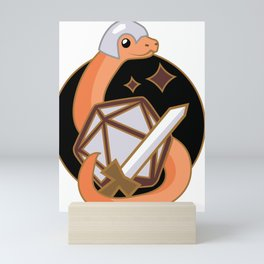 Fighter Snake (D&D Snakes) Mini Art Print