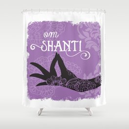 Om Shanti Shower Curtain