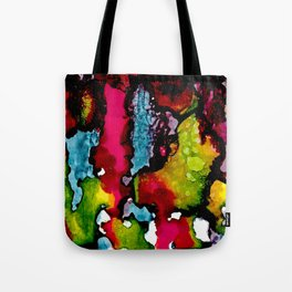 Primary Psychedelic Melt Down Tote Bag