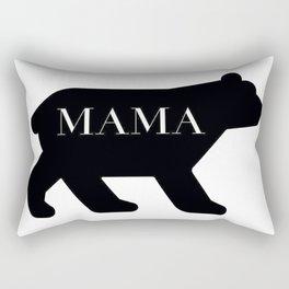 Mama Bear in Black Rectangular Pillow
