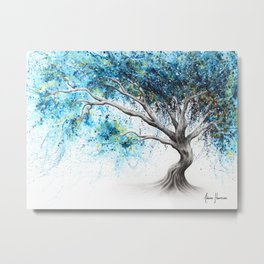 Blue Crystal Dream Tree Metal Print