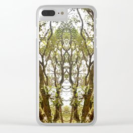 Mirrored Trees 8 Clear iPhone Case