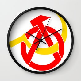 Anarcho-Communist Symbol Soviet USSRColors Wall Clock