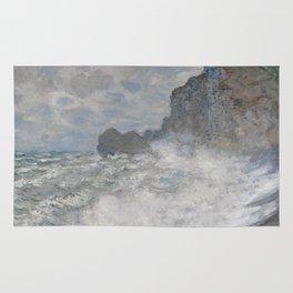 Claude Monet Rough weather at Étretat Rug