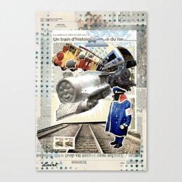 COLLAGE: Trains Canvas Print