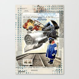 COLLAGE: Trains Canvas Print