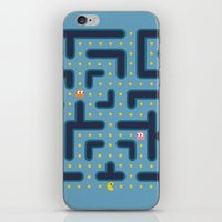pacman iPhone & iPod Skins featuring RETRO GAME by Vickn