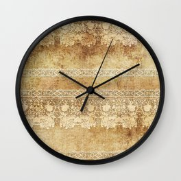Vintage. The old lace. Vintage fabric . Wall Clock