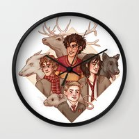 marauders Wall Clocks featuring The Marauders by Susanne