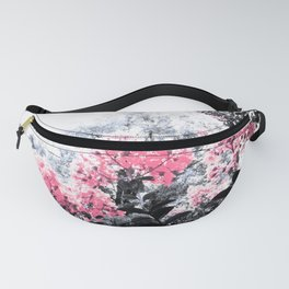 Pink Flowers Pop of Color Fanny Pack