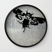 silence of the lambs Wall Clocks featuring Silence of the Lambs by Kat Phelps