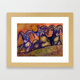 Ram Trinity Framed Art Print