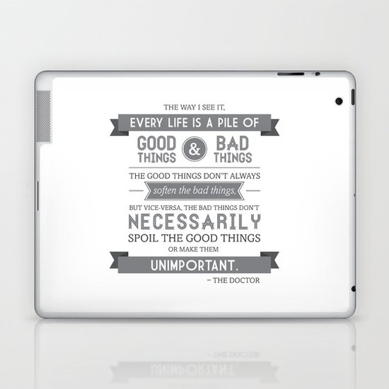 Good Things & Bad Things (gray) Laptop & iPad Skin