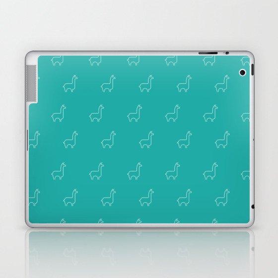 Baesic Llama Pattern (Teal) Laptop & iPad Skin
