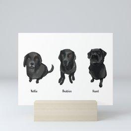 Emma's Pups Mini Art Print
