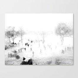 Snow Through Glass Canvas Print