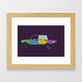 Soviet car, pop style Framed Art Print