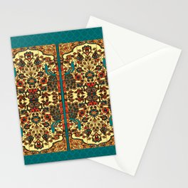 peacock in persian tile paradise Stationery Cards
