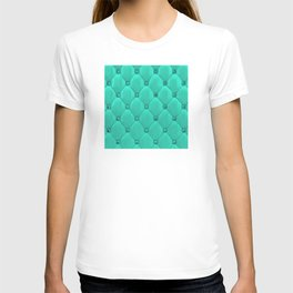 Jade Green Diamond Tufting Pattern T-shirt
