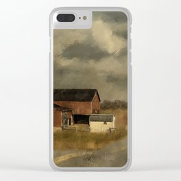 The Coming On Of Winter Clear iPhone Case