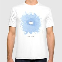 Stay calm White MEDIUM Mens Fitted Tee