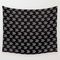 arrows Wall Tapestries featuring Arrows by Priscila Peress