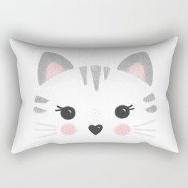 Little Kitty Face Rectangular Pillow