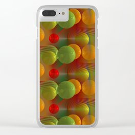 crazy lines and balls -23- Clear iPhone Case