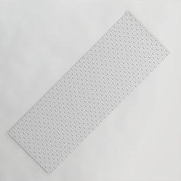 HD Soap Black Tiled on White Yoga Mat