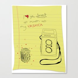 yashica love Canvas Print