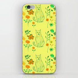 Cat in the garden - Pattern iPhone Skin