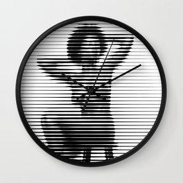 Shasta wonder sitting figure nude horizontal mosaic Wall Clock