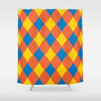 carnival Shower Curtains featuring Carnival by machmigo