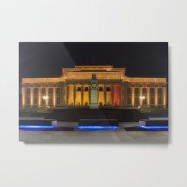 Auckland Museum at Night Metal Print