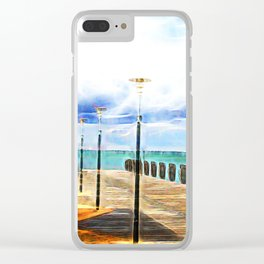Beautiful abstract ocean view Clear iPhone Case