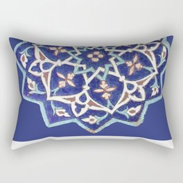 Rubino Mandala Design Pattern Purple Rectangular Pillow