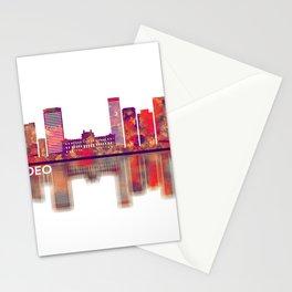 Montevideo Uruguay Skyline Stationery Cards